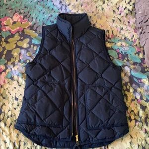 J Crew women's XS navy down vest